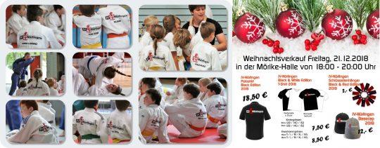 Judogi-Beflockung und Weihnachtsverkauf 2018